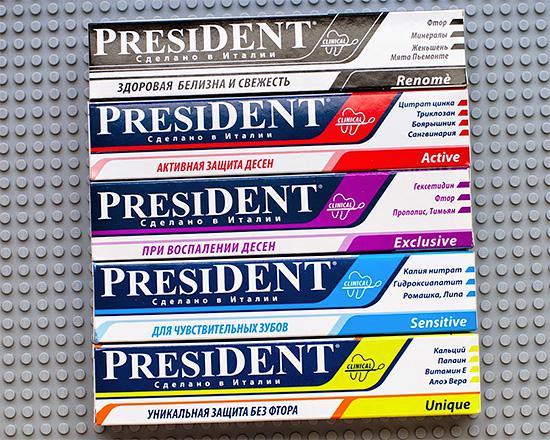 Зубные пасты Президент: состав, виды, цена, отзывы стоматологов и пациентов